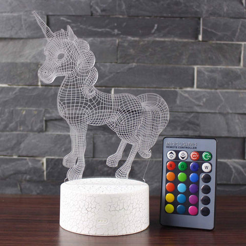 Beaulyn Unicorn Night Light for Kids 16 Colors +7 Colors Changing Touch&Remote Control 3D Decor Projector Lamp (Unicorn) - llightsdaddy - Beaulyn - Night Lights