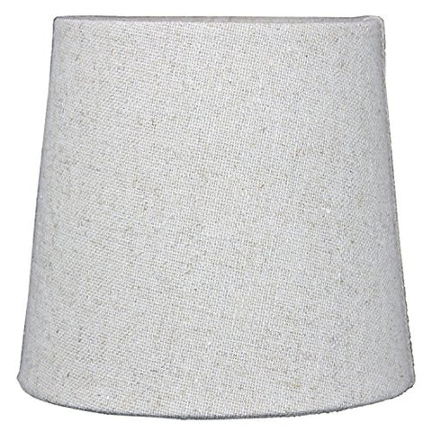 5x6x5 Sand Linen Drum Chandelier Clip-On Lampshade By Home Concept - Perfect for chandeliers, foyer lights, and wall sconces -Small, Tan - llightsdaddy - HomeConcept - Lamp Shades
