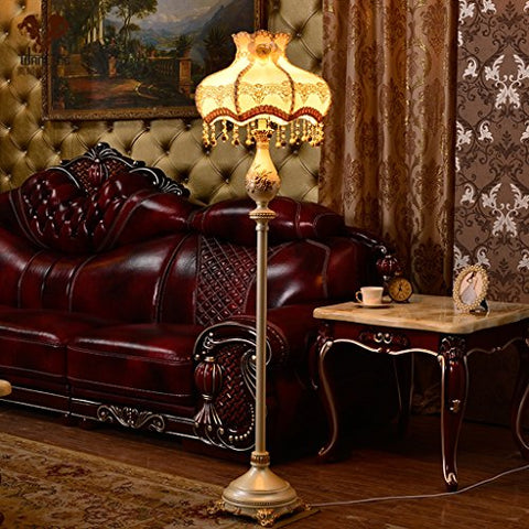 ALUS- European Living Room Bedroom Floor Lamp Study Of Retro Bedside Warm Standing Lamp/E27 - llightsdaddy - ALUS-floor lamp - Lamp Shades