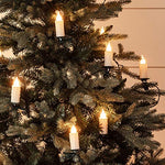 Lights4fun, Inc. 30 Warm White LED Jumbo Flameless Christmas Candle Indoor String Lights with Tree Clips - llightsdaddy - Lights4fun, Inc. - Flameless Candles