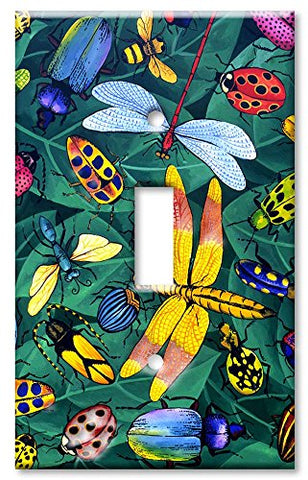 Single Gang Toggle Wall Plate - Bugs  Art Plates Wall Plates llightsdaddy.myshopify.com lightsdaddy