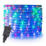 Wyzworks 150' Feet Multi-Rgb Led Rope Lights - Flexible 2 Wire Accent Holiday Christmas Party Decoration Lighting | Ul Certified