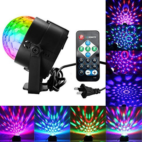 Disco Ball Lights Party Lights Dj Lights, Sound Activated Party Lights with Remote Control DJ Lighting, Laser Lights, RBG Disco Ball, Strobe Lights 7 Modes Stage Par Light for Karaoke Club Xmas Party