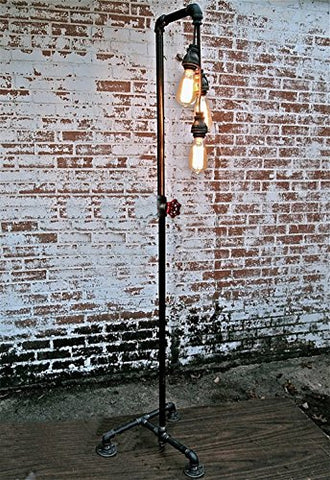 FGLDD Floor lamp, Living Room Dining Room Retro Industrial Style Edison Hose Floor lamp Loft Old Bedroom Study Iron Floor lamp Size:4040160cm - llightsdaddy - FGLDD - Lamp Shades