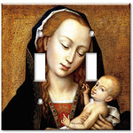 Double Gang Toggle Wall Plate - Virgin and Child