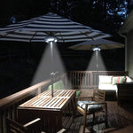 Anordsem Patio Umbrella Light Umbrella Pole Lights Camping Tent Night Light 36 LED Lights 2 Modes 150LM for Indoor Outdoor Use Patio Umbrellas Camping Tents Summer House Beach Umbrella 2 Pack - llightsdaddy - Anordsem - Umbrella Lights