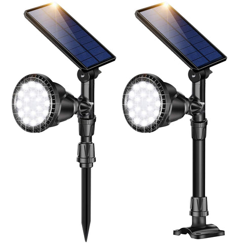 Outdoor Solar Spotlights, Super Bright 18 LED Security Light Waterproof Wall Lamps for Garden Landscape Patio Porch Deck Garage - llightsdaddy - ROSHWEY - Outdoor Porch & Patio Lights