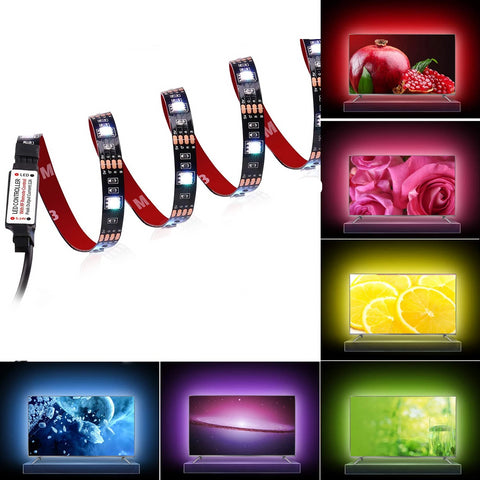 LED Strip Lights - TV Backlight 6.56ft for 40-60in TV - USB Led TV Light Strip with Remote - 22 Colors Changing 5050 LEDs Bias Lighting