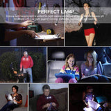 Eutuxia LED Hug Neck Book Light with Handsfree Flexible Arms. Good for Night Reading & Knitting on Bed, Cars & Outdoor.