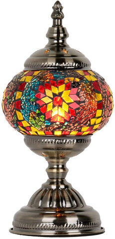 Marrakech Turkish Table Lamp Handmade Mosaic Glass Bedside Lamp Moroccan Lantern Tiffany Style Night Lights