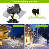 Snowfall Led Light Projector,Syslux Snow Light,Snowfall Projection Light With Snowstorm Effect For Decorations