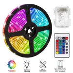 Pinsam Battery Powered Led Strip Lights, Waterproof Flexible Color Changing Rgb Led Light Strip,5050 2M/6.6Ft 60 Leds 5V Battery-Powered With Rf Controller - llightsdaddy - Pinsam - LED Strip Lights