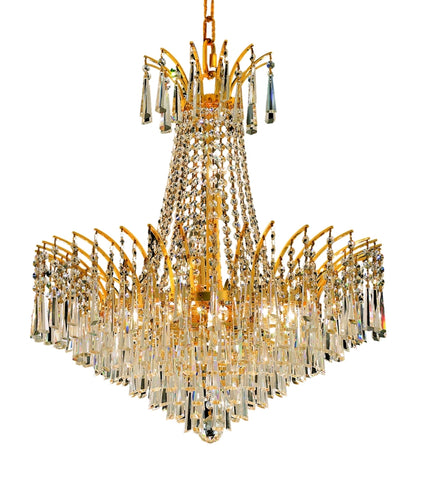 8032 Victoria Collection Chandelier D:24in H:24in Lt:11 Gold Finish (Elegant Cut Crystals) - llightsdaddy - Elegant Lighting - Chandeliers