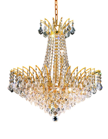 8033 Victoria Collection Chandelier D:24in H:24in Lt:11 Gold Finish (Elegant Cut Crystals) - llightsdaddy - Elegant Lighting - Chandeliers