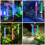 Outdoor Solar Garden Stake Lights,Wohome 2pcs Solar Acrylic Bubble RGB Color, Solar Landscape Lighting Light