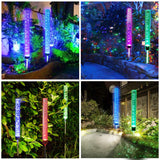 Outdoor Solar Garden Stake Lights,Wohome 2pcs Solar Acrylic Bubble RGB Color, Solar Landscape Lighting Light - llightsdaddy - WOHOME - Outdoor Porch & Patio Lights