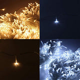 Zoic 500 Leds Christmas Wedding Party Fairy String Lights Lamp 100M(328Feet) 8 Modes 31V Memory Function Warm White - llightsdaddy - Zoic - Indoor String Lights