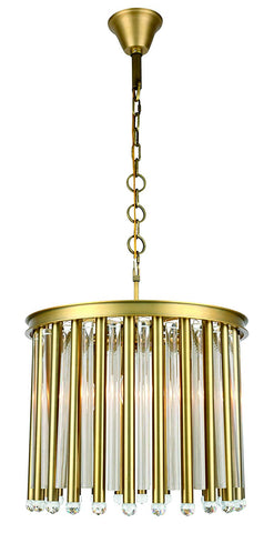 1140 Maxwell Collection Chandelier D:20in H:17in Lt:4 Polished Nickel Finish (Royal Cut Crystals)