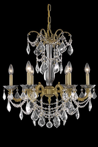 Athena 6 light French Gold Chandelier Clear Elegant Cut Crystal - llightsdaddy - Elegant Lighting - Chandeliers