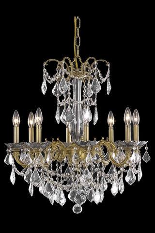Athena 8 light French Gold Chandelier Clear Elegant Cut Crystal - llightsdaddy - Elegant Lighting - Chandeliers