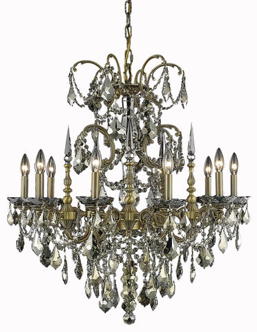 9710 Athena Collection Chandelier D:30in H:31in Lt:10 French Gold Finish (Royal Cut Crystals)