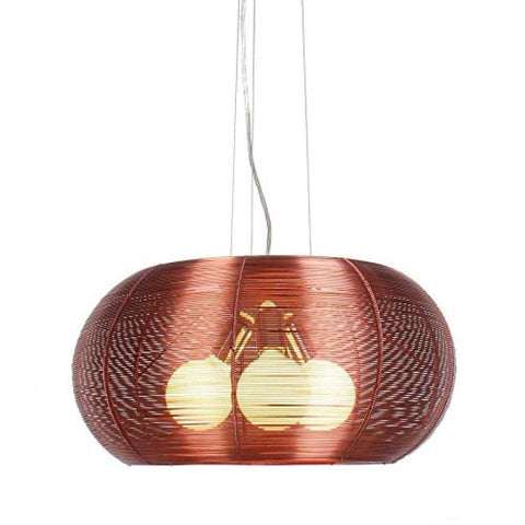 Lenox 3 Light Modern Maroon Pendant - llightsdaddy - Bromi Design Inc - Ceiling Lights