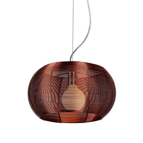 Lenox 1 Light Modern Maroon Pendant - llightsdaddy - Bromi Design Inc - Ceiling Lights