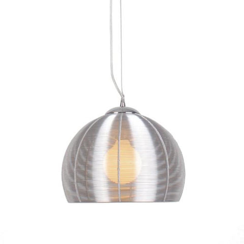 Lenox 1 Light Round Modern Silver Pendant - llightsdaddy - Bromi Design Inc - Ceiling Lights