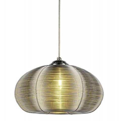 Lenox 1 Light Round Silver Pendant - llightsdaddy - Bromi Design Inc - Ceiling Lights