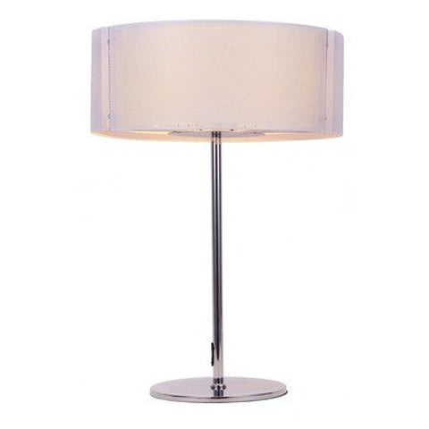 Lynch Iron Mesh White Table Lamp - llightsdaddy - Bromi Design Inc - Table Lamp