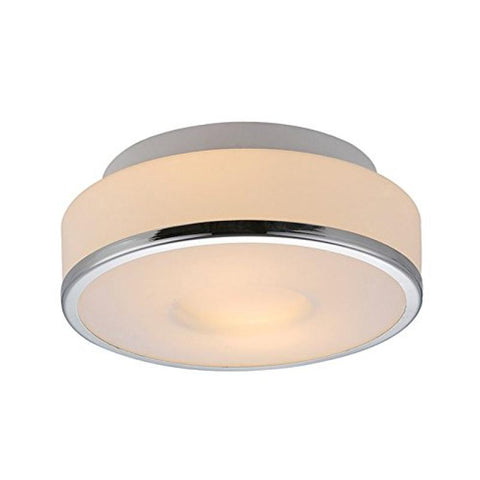 Lynch White & Chrome Flush Mount - llightsdaddy - Bromi Design Inc - Pendant Lights