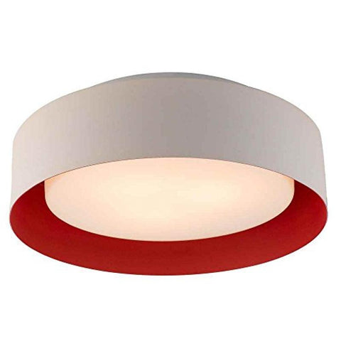 Lynch White & Red Flush Mount - llightsdaddy - Bromi Design Inc - Ceiling Lights