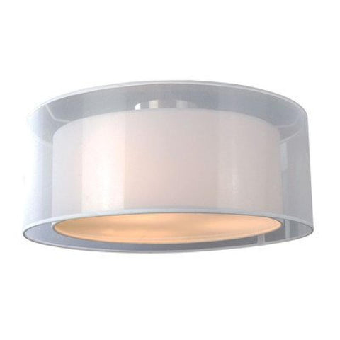 Phoenix 2 Lights White Flush Mount - llightsdaddy - Bromi Design Inc - Ceiling Lights