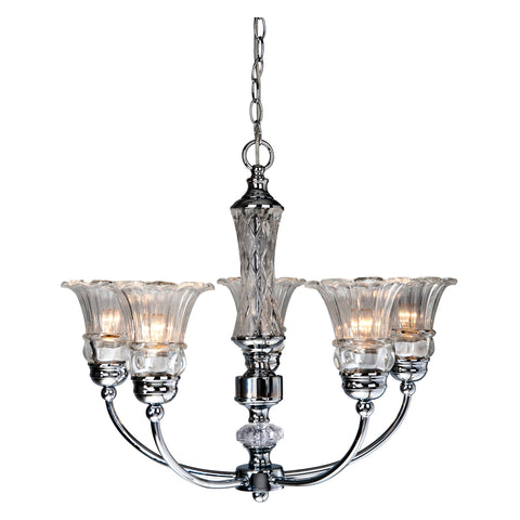 Elegant Designs 5 Light Glass Ceiling Glacier Petal Chandelier - llightsdaddy - Elegant Designs - Ceiling Lights