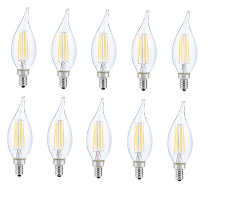 LED E12 CANDELABRA, FLAME TIP, 2700K, 300, CRI80, ES, UL, 6W, 40W EQUIVALENT, 15000HRS, LM480, DIMMABLE, INPUT VOLTAGE 120V  Elitco Lighting LED Light Bulbs llightsdaddy.myshopify.com lightsdaddy