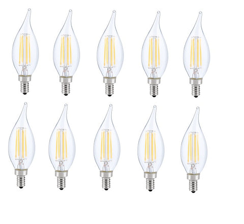 LED E12 CANDELABRA, FLAME TIP, 3000K, 300, CRI80, ES, UL, 6W, 40W EQUIVALENT, 15000HRS, LM480, DIMMABLE, INPUT VOLTAGE 120V - llightsdaddy - Elitco Lighting - LED Light Bulbs