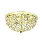 Elegant Designs 2 Light Elipse Crystal Flush Mount Ceiling Light, Gold - llightsdaddy - Elegant Designs - Ceiling Lights