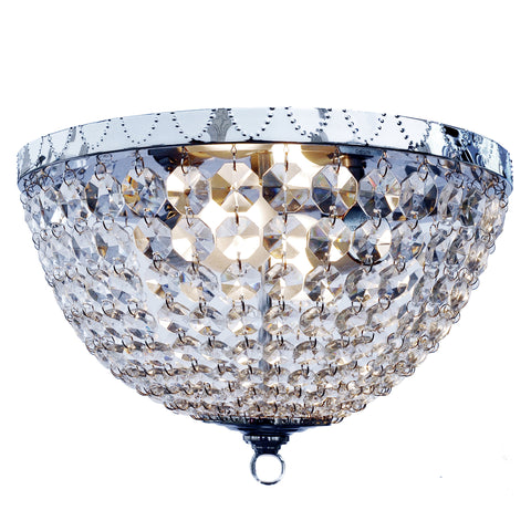 Elegant Designs 2 Light Victoria Crystal  Rain Drop Ceiling Light Flushmount - llightsdaddy - Elegant Designs - Ceiling Lights
