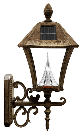 Gama Sonic Baytown Solar Outdoor Lamp GS-106FPW-WB - Pole/Pier/Wall Mount Kit - Weathered Bronze Finish - llightsdaddy - Gama Sonic - Porch & Patio Lights
