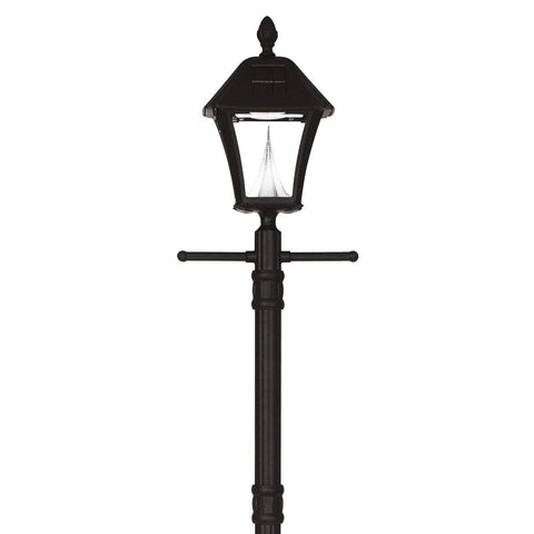 Gama Sonic Baytown Solar Lamp Post with EZ Anchor GS-106S-G - Black Finish