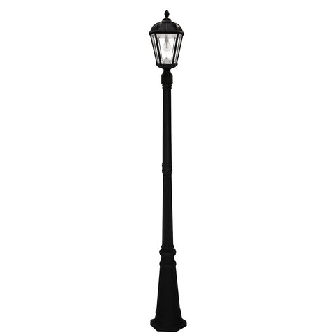 Gama Sonic Royal Bulb Solar Outdoor Lamp Post GS-98B-S-BLK - Black Finish