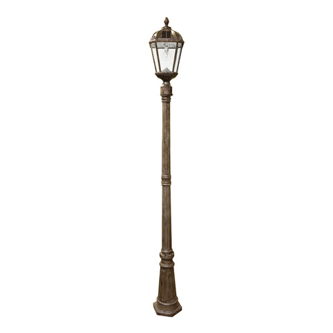 Gama Sonic Royal Bulb Solar Outdoor Lamp Post GS-98B-S-WB - Weathered Bronze Finish