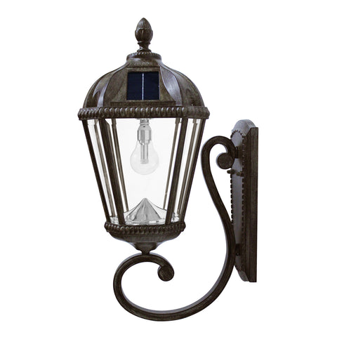 Gama Sonic Royal Bulb Solar Outdoor Wall Light GS-98B-W-WB - Weathered Bronze Finish