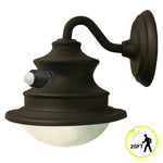Gama Sonic Solar Barn Light with Motion Sensor GS-122-PIR - Matte Brown Finish