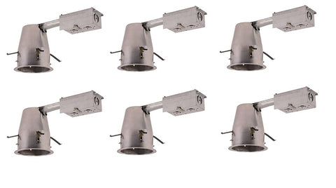 4 inch ICAT REMODEL HOUSING, 120V, T24 CONNECTOR,LED RETROFIT ONLY 6 PACK - llightsdaddy - Elitco Lighting - LED Light Bulbs