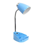 Limelights Gooseneck Organizer Desk Lamp with iPad Tablet Stand Book Holder, Blue - llightsdaddy - LimeLights - Lamp Shades
