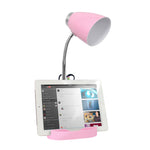 Limelights Gooseneck Organizer Desk Lamp with iPad Tablet Stand Book Holder, Pink - llightsdaddy - Limelights - Lamp Shades