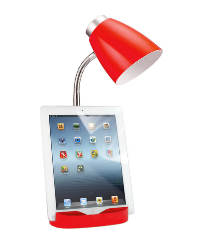Limelights Gooseneck Organizer Desk Lamp with iPad Tablet Stand Book Holder, Red  Limelights Lamp Shades llightsdaddy.myshopify.com lightsdaddy
