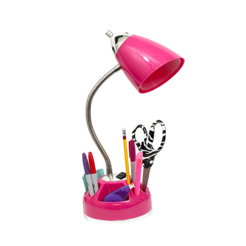LimeLights Flossy Organizer Desk Lamp with Charging Outlet Lazy Susan Base - llightsdaddy - LimeLights - Lamp Shades