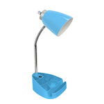 Limelights Gooseneck Organizer Desk Lamp with iPad Tablet Stand Book Holder and USB port, Blue - llightsdaddy - LimeLights - Lamp Shades